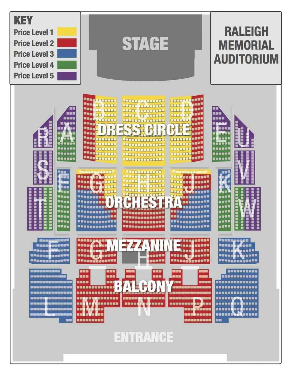 Seating Chart Nc Theatre